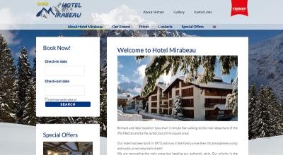 уебсайт на хотел Мирабо, Швейцария